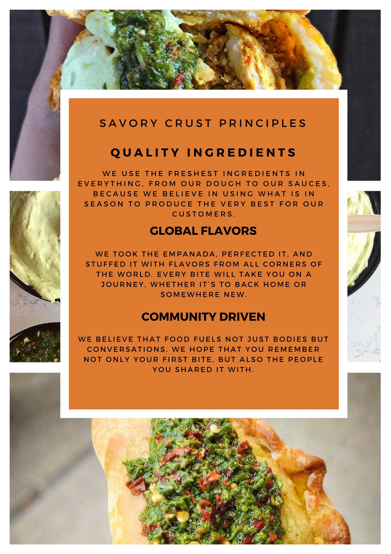 Savory crust believes in